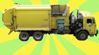 getlinkyoutube.com-Garbage bin Truck Compilation for Children: Garbage bin Trucks from around the world