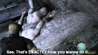getlinkyoutube.com-Resident Evil 4 How To Kill Regenerators And Iron Maiden's Without Wasting Ammo