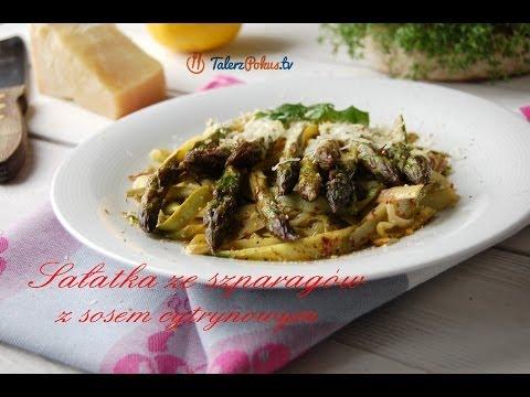 """""""Tagliatelle"""" z zielonych szparagów z sosem cytrynowym"""