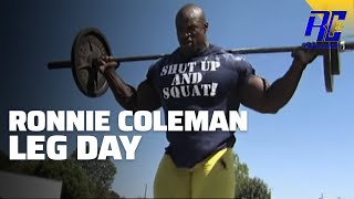 getlinkyoutube.com-A Day in the Life of Ronnie Coleman- LEG DAY