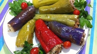 getlinkyoutube.com-طريقة عمل محشي الفلفل، الباذنجان و الكوسه  Egyptian Stuffed Vegetables