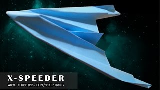 Best Paper Planes - How to make FASTEST flying paper airplane ever | X-Speeder