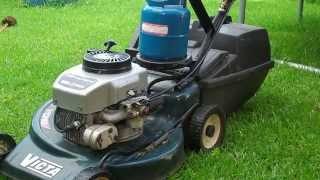 getlinkyoutube.com-How to convert a Lawn Mower from Gas/Petrol to Propane / LPG DIY