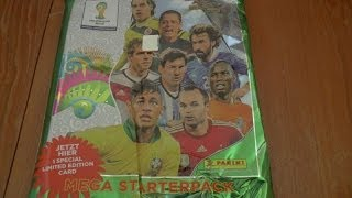 getlinkyoutube.com-MESSI LIMITED EDITION MEGA STARTER PACK ☆ panini ADRENALYN XL WORLD CUP 2014 Trading Cards ☆ opening
