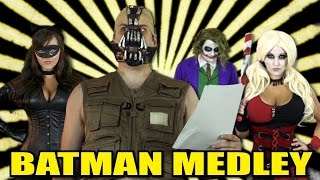 getlinkyoutube.com-Batman Medley! - Harley Quinn, Joker, Cat Woman, & Bane!