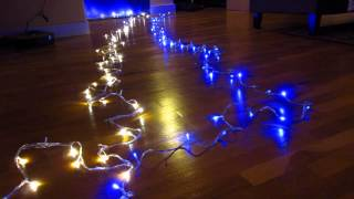 getlinkyoutube.com-eBay 100 LED Xmas Lights Part 1 - Demo All 8 Flashing Fairy Light Modes and Patterns Review