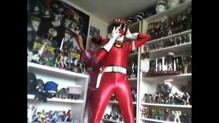 getlinkyoutube.com-Mighty Morphin Power Rangers prop and toy collection.