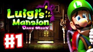 Luigi's Mansion Dark Moon - Gameplay Walkthrough Part 1 - A-1 Poltergust 5000 (Nintendo 3DS)