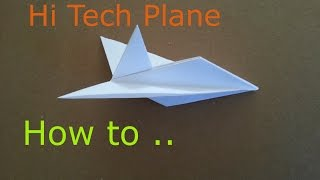 getlinkyoutube.com-Elegant Origami Paper Plane, How to make