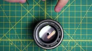 getlinkyoutube.com-Minolta MC Rokkor-PF 55mm f1.7 (MCI) Lens Disassembly