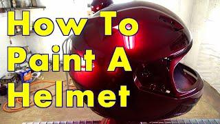 getlinkyoutube.com-How To Paint A Helmet Step By Step / ALLKANDY WET WET PLUS / Merlot Red Kandy Painted Helmet