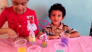 getlinkyoutube.com-Como decorar una botellita con bolitas de gel!! becky y pollito