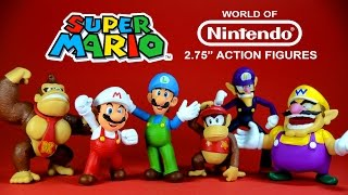 "getlinkyoutube.com-Super Mario 2.75"" Action Figures World of Nintendo Series 1 JAKKS Pacific"