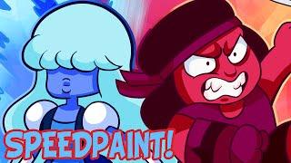 getlinkyoutube.com-Steven Universe Ruby and Sapphire Speedpaint (SPOILERS)