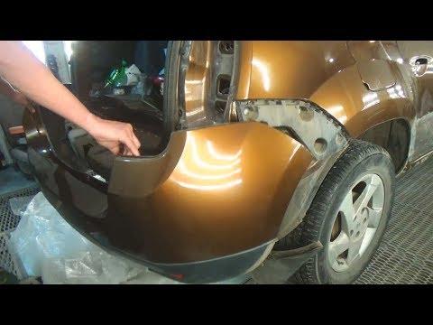 Как снять задний бампер. Renault Duster (Рено Дастер).