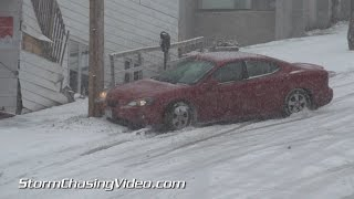 getlinkyoutube.com-11/10/2014 Duluth MN  Car's Crashing In the Winter Storm
