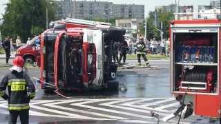 getlinkyoutube.com-Sosnowiec zagórze - wypadek straży pożarnej