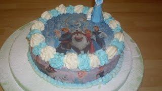 getlinkyoutube.com-Gâteau Reine des neiges - Gâteau d'anniversaire spécial rêverie!