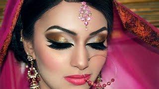 getlinkyoutube.com-Asian Bridal Makeover  -  Hair and Make up by Fahmida Ashiq #Look 8