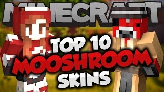 getlinkyoutube.com-Top 10 Minecraft MOOSHROOM SKINS! - Best Minecraft Skins