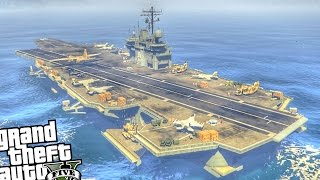 getlinkyoutube.com-Epic Navy Aircraft Carrier - GTA 5 PC MOD
