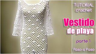 getlinkyoutube.com-Vestido mujer tejido a crochet, paso a paso (1 de 3)