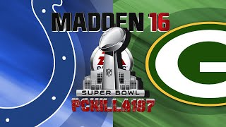 Madden Super Bowl 50 Colts vs Packers Full Game
