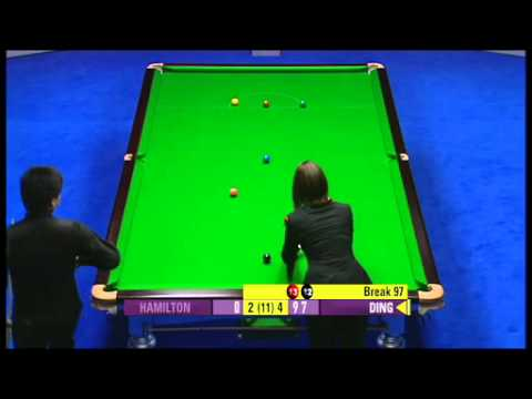 RONNIE O'SULLIVAN vs DING JUNHUI  UK MASTERS SNOOKER 2012  FASTEST MAXIMUM 147