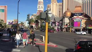 A walk down the Las Vegas strip