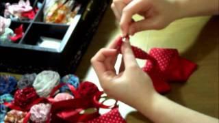 getlinkyoutube.com-Flor de tira de tecido.