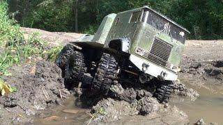 getlinkyoutube.com-RC TRUCKS OFF Road 4x4 MUD Terrain - Scale model: Tamyia Semi Truck 6x6, Axial SCX10 Honcho, Integy