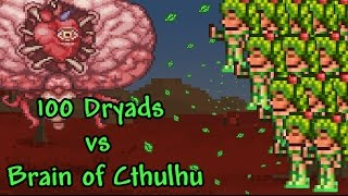 getlinkyoutube.com-[Terraria] 100 Dryads vs Brain of Cthulhu