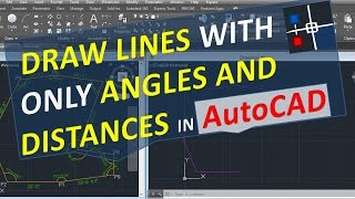 getlinkyoutube.com-Draw lines with angles and distances only in AutoCAD with specific angle relative to another line