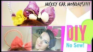getlinkyoutube.com-No Sew Princess Pearl Minnie or Mickey Ears