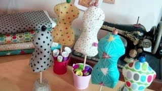 getlinkyoutube.com-Elegant mannequin pin cushion by Debbie Shore