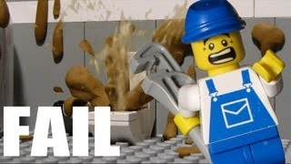 getlinkyoutube.com-Lego Toilet Fail 2 - Toilet Disaster