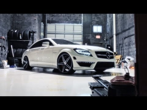 "Mercedes Benz CLS63 AMG on 20"" Vossen VVS-CV5 Concave Wheels / Rims"