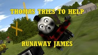 getlinkyoutube.com-The Adventure Begins in Trainz - Thomas tries to help runaway James