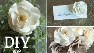 getlinkyoutube.com-DIY: Romantische Rosenblüten aus Papier für Hochzeitsdeko selber machen   Deko Kitchen