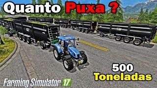 getlinkyoutube.com-Farming Simulator 17 - New Holland T6. 130 Puxa 500 Toneladas?