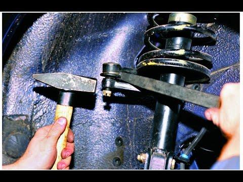 Как снять рулевой наконечник с ПОМОЩЬЮ МОЛОТКА И КАКОЙ ТО МАТЕРИ