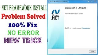 How to install Net Framework 4 on windows । fix net framework v4.0.30319 error problem solve