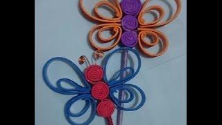 getlinkyoutube.com-How to Make Quill butterfly using foam sheets || DIY + Tutorial .