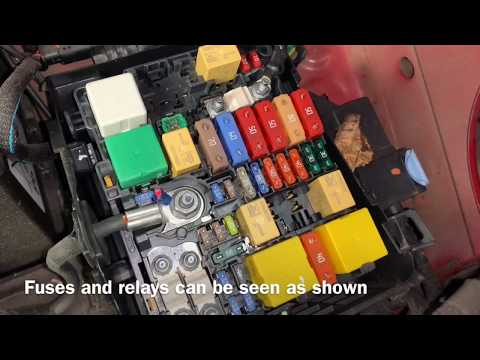 ... C4 Grand Picasso Diesel RHD Fuse Box And Relay Location