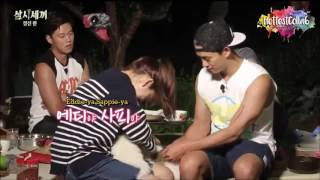 "getlinkyoutube.com-park shin hye playing with eddie n sappie (cute dog) | ""3 meals a day"""