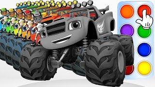 getlinkyoutube.com-Learn Colors with Blaze and the Monster Machines - Toys 2D Trucks Colours & Kids Children Songs