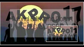 Tutorial Edit Tulisan Di Foto Sunset Picsart Android