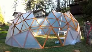 getlinkyoutube.com-2013 3V Geodesic Dome Greenhouse Geodome Polydome Hubless Sqft gardening