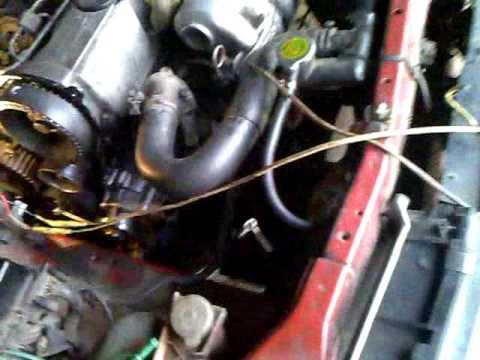 LD 20-2 Замена помпы на двигателе Nissan Bluebird 1987г.