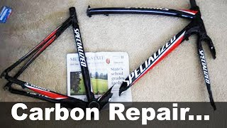 getlinkyoutube.com-Carbon Fiber Bike Frame Repair UNDER $30 - DIY How To - Specialized S-Works Tarmac